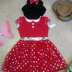 Disney Minnie Mouse Tulle Dress with Hoodie Ears L